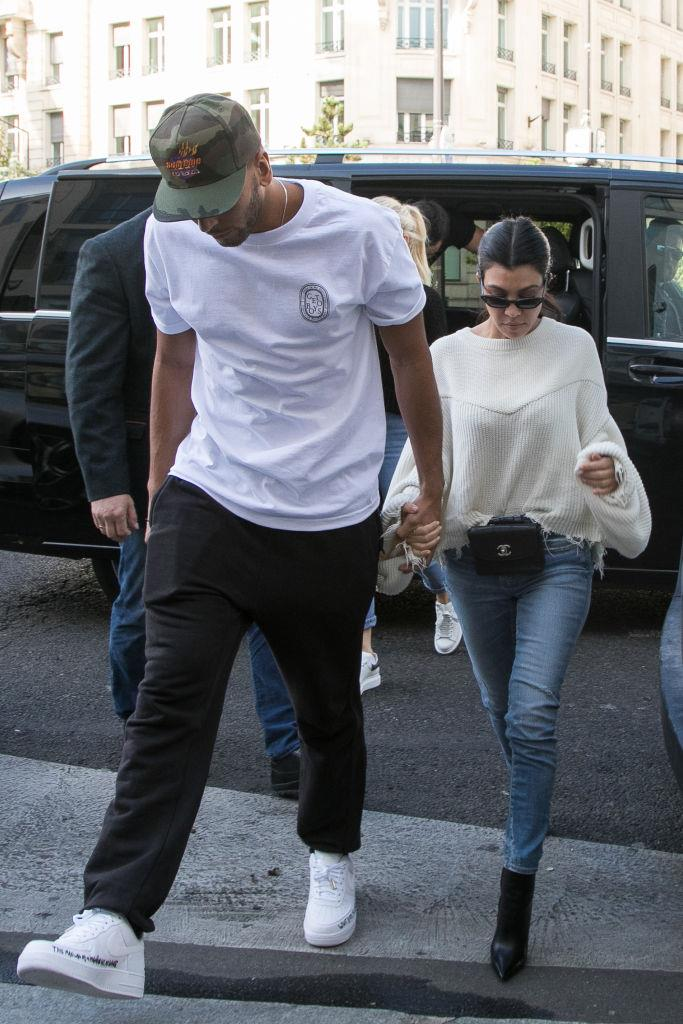 Kourtney and Younes in Paris in September 2017.