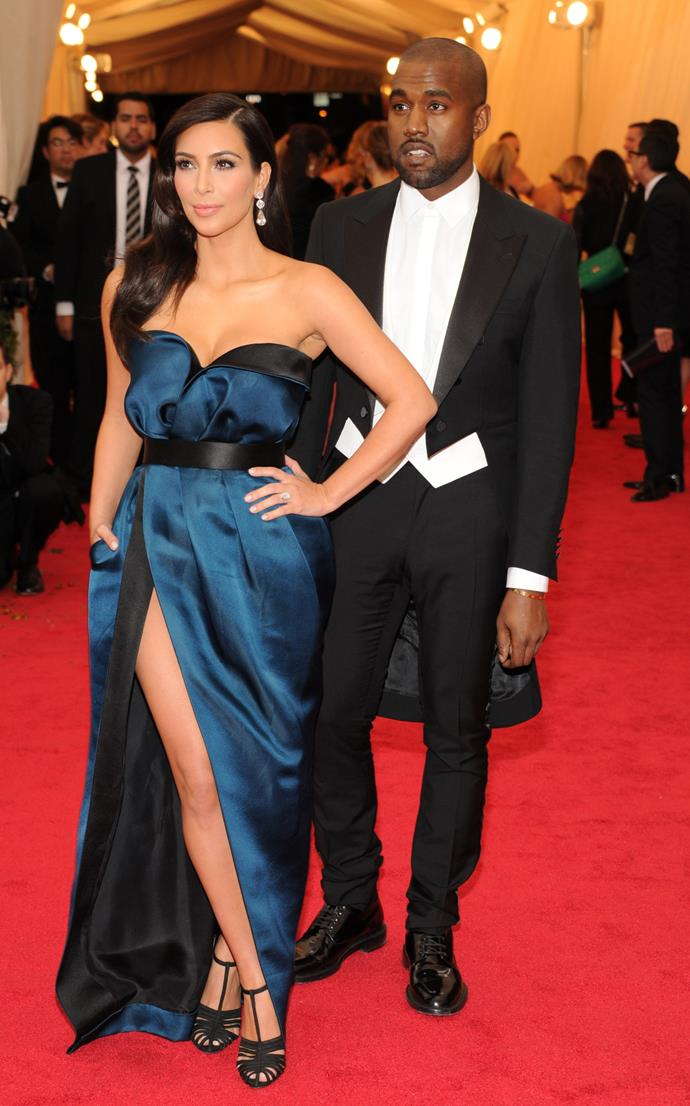 Kim Kardashian and Kanye West together at the Met Gala in 2014.