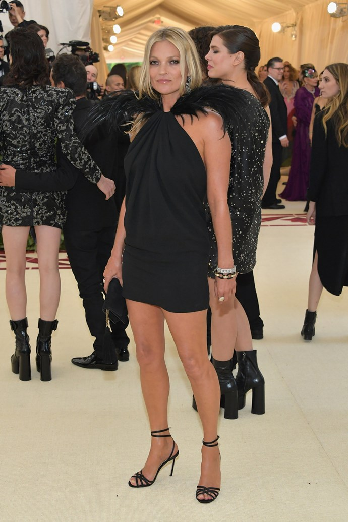 Kate Moss in Saint Laurent