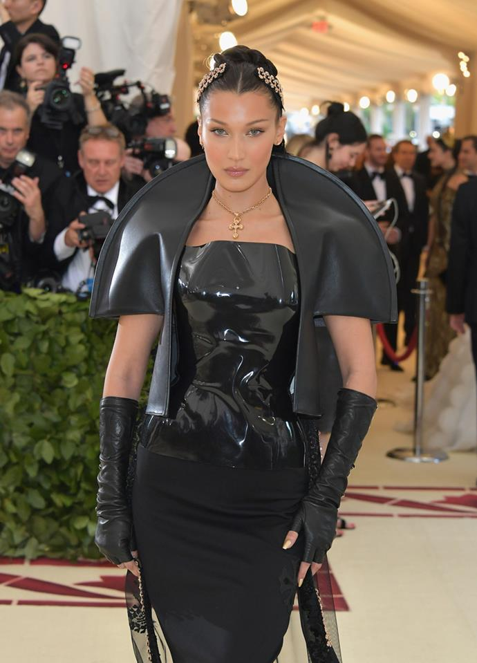 Bella Hadid at the Met Gala 2018.