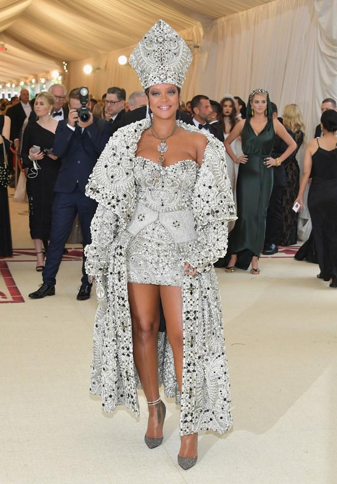 Rihanna in John Galliano for Maison Margiela