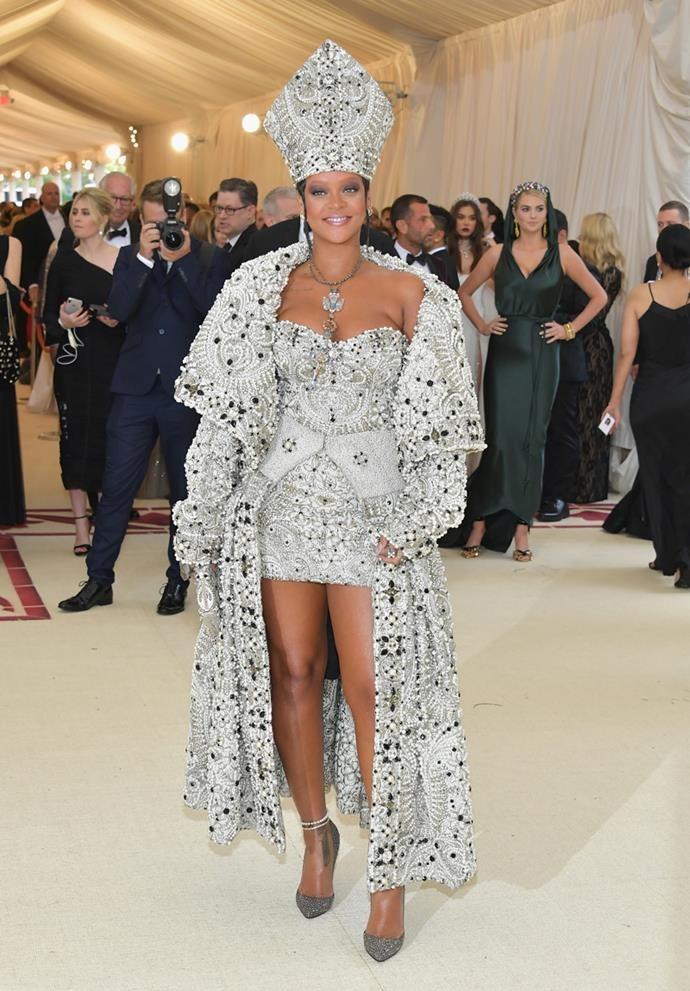 Rihanna in John Galliano for Maison Margiela