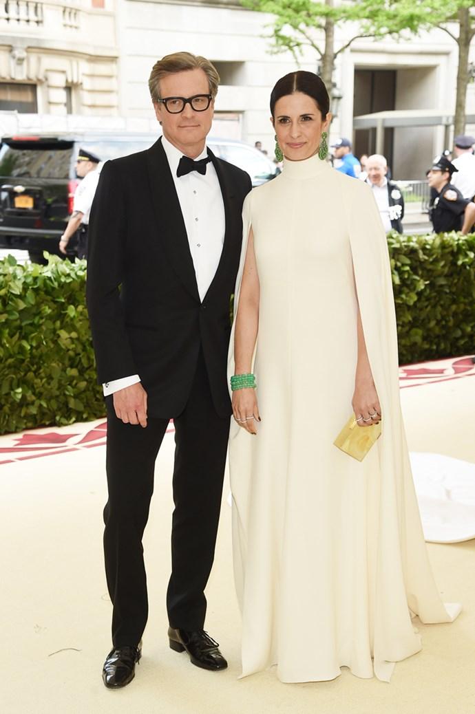 Colin Firth and Livia Firth in Giambattista Valli Haute Couture