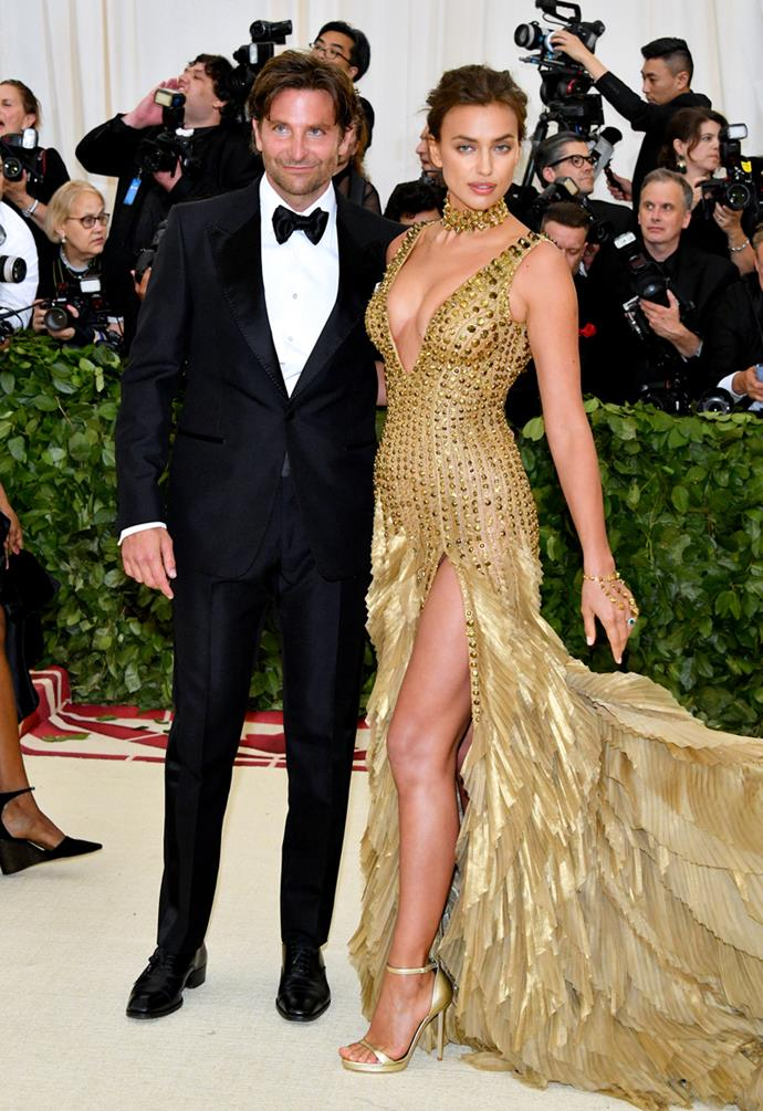 Bradley Cooper in Tom Ford and Irina Shayk in Versace