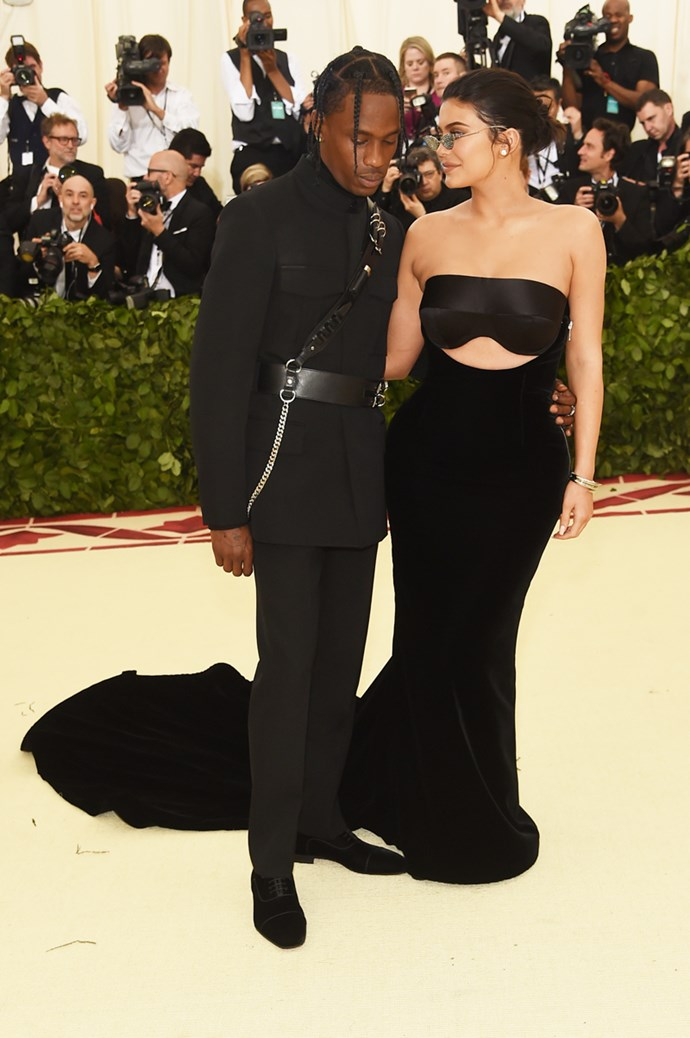 Kylie Jenner and Travis Scott in Alexander Wang