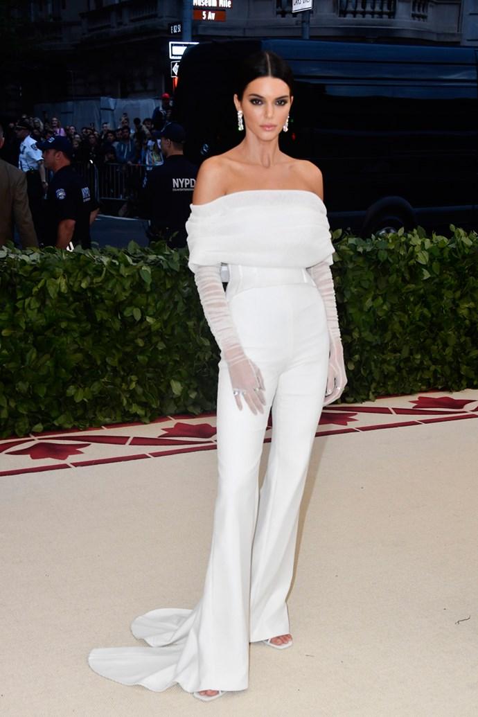 Kendall Jenner in Off-White c/o Virgil Abloh