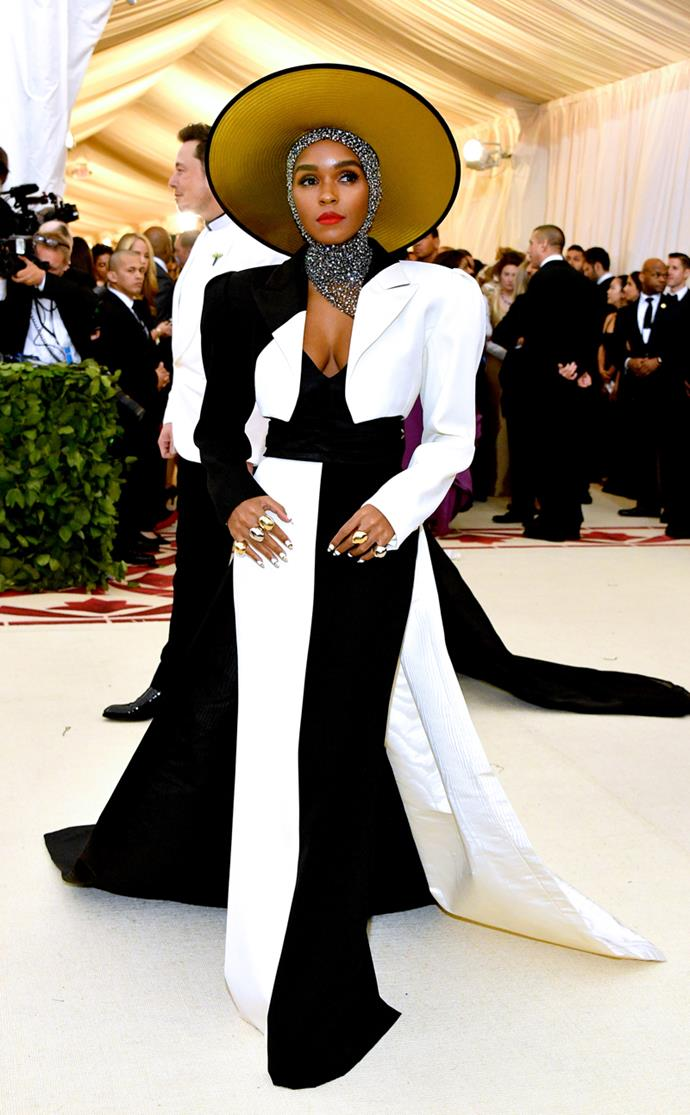 Janelle Monae in custom Marc Jacobs