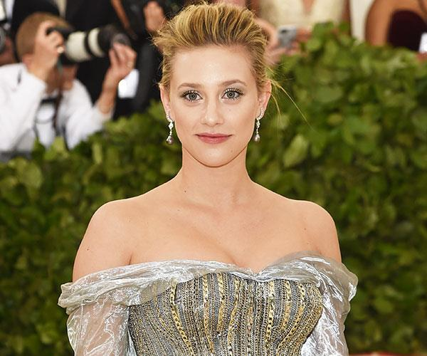 """**Lili Reinhart** <br> Reinhart walked the [red carpet](https://www.harpersbazaar.com.au/fashion/met-gala-2018-red-carpet-16427