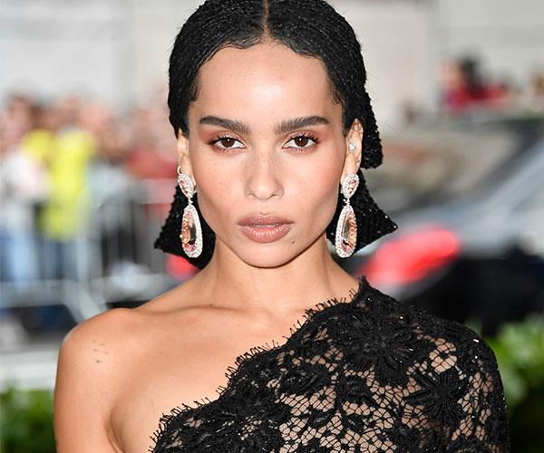 **Zoe Kravitz** <br> Kravitz nailed the 'triple pink' look that dominated the runways of fashion month.