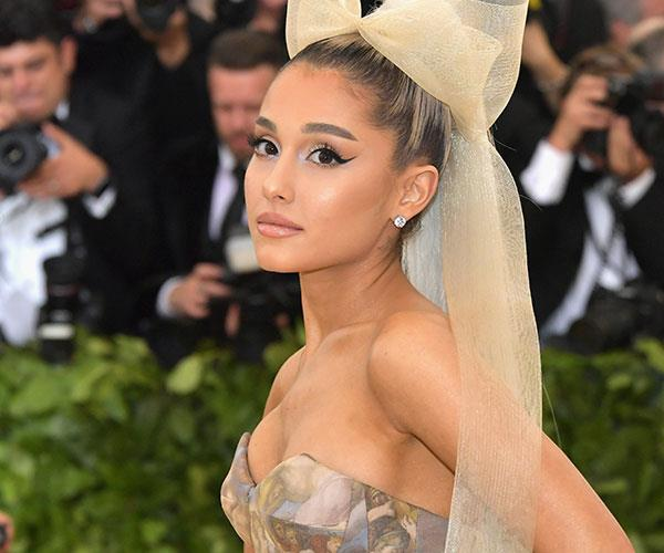 **Ariana Grande** <br> Grande's signature winged liner made an appearance on the red carpet.