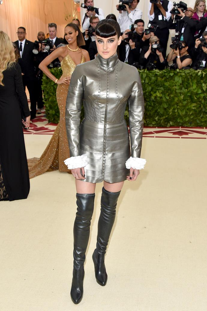 Shailene Woodley at the Met Gala 2018.