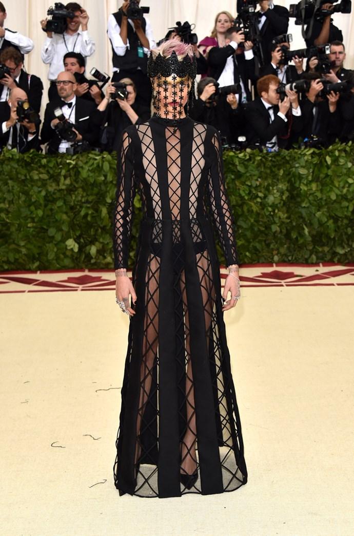 Cara Delevinge in Dior Haute Couture