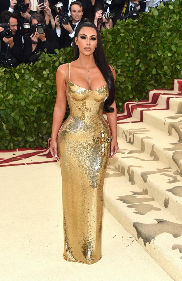 Kim Kardashian West in Versace