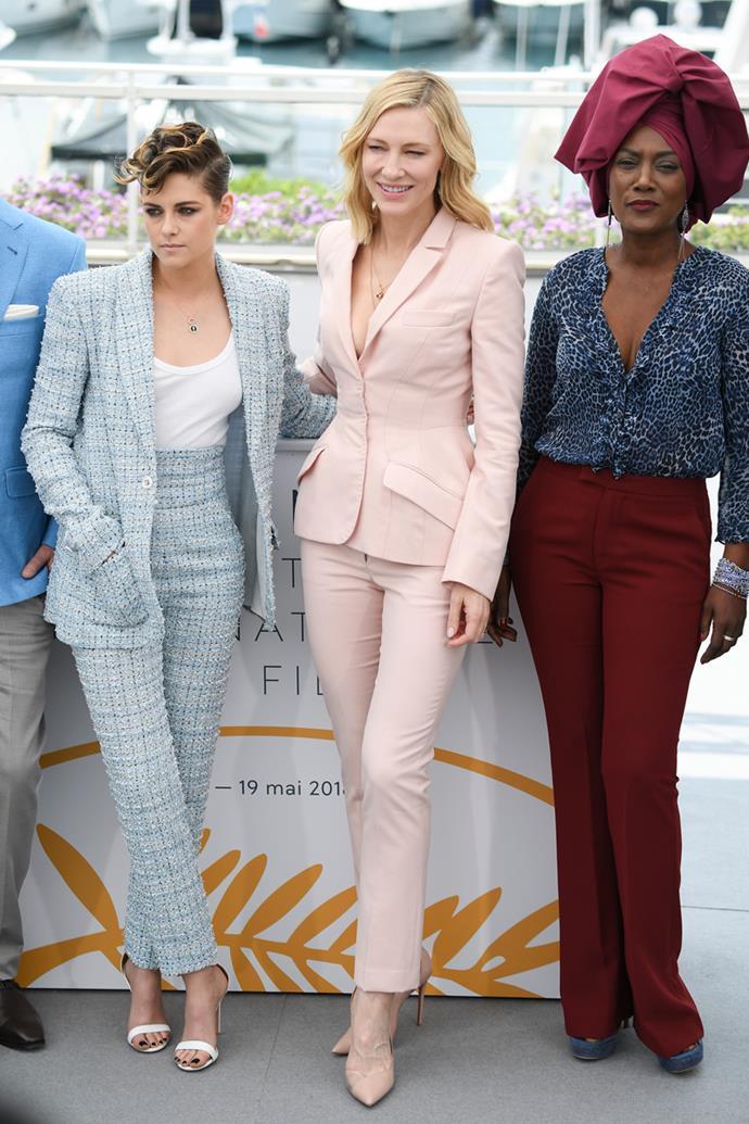 Kristen Stewart in Chanel, Cate Blanchett and Khadja Nin