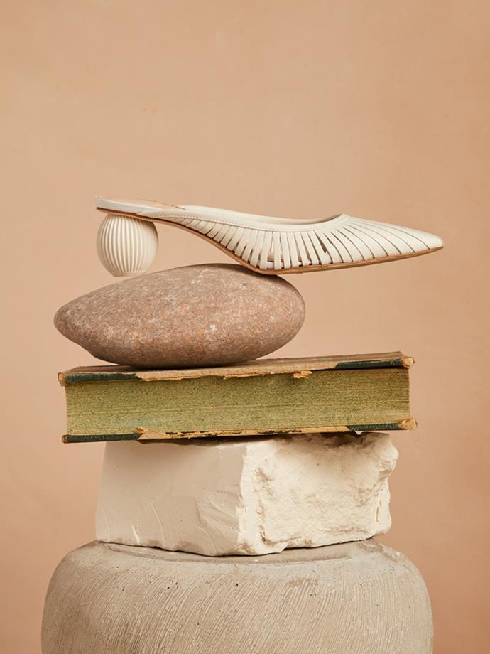 "Alia leather mules, Cult Gaia, $443 at [Net-A-Porter](https://www.net-a-porter.com/au/en/product/1070039/cult_gaia/alia-leather-mules|target=""_blank""|rel=""nofollow"")"