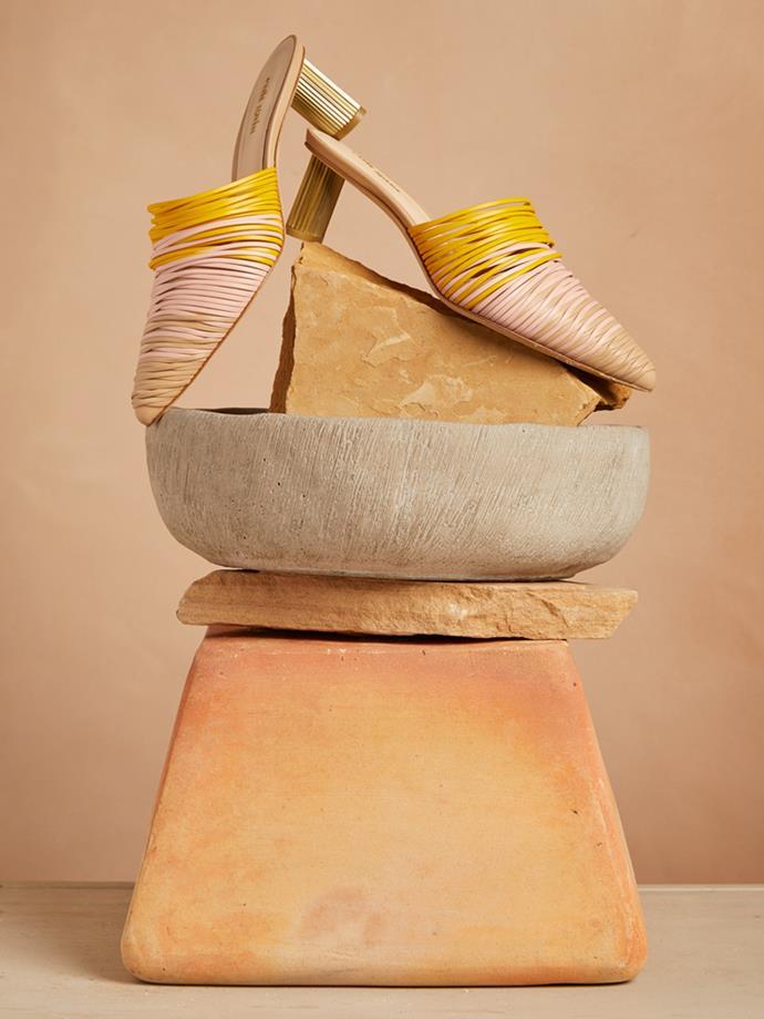 "Sage leather mules, Cult Gaia, $443 at [Net-A-Porter](https://www.net-a-porter.com/au/en/product/1070045/cult_gaia/sage-leather-mules|target=""_blank""|rel=""nofollow"")"