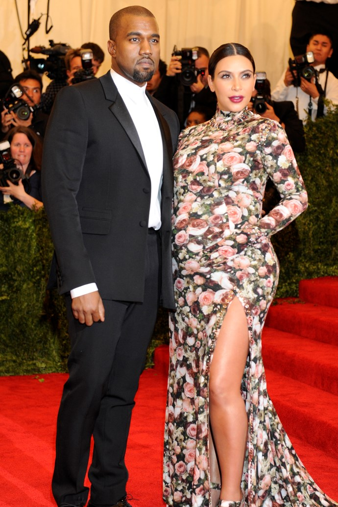 """**2013: KIM KARDASHIAN WEST in Givenchy by Riccardo Tisci** <br><br> Attending her first Met in 2013, Kim Kardashian West wasn't going to let a severely [difficult pregnancy](https://www.kimkardashianwest.com/behind-the-scenes/409-high-risk-pregnancy/