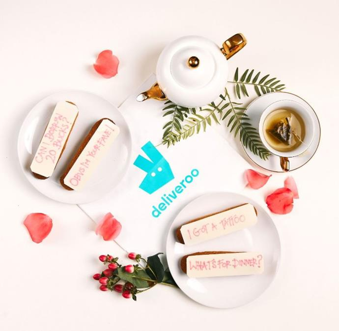 "**Personalised Mother's Day éclairs, $10 at [Deliveroo](https://deliveroo.com.au/|target=""_blank""