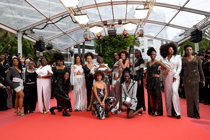 *Noire N'est Pas Mon Metier* protest at Cannes.