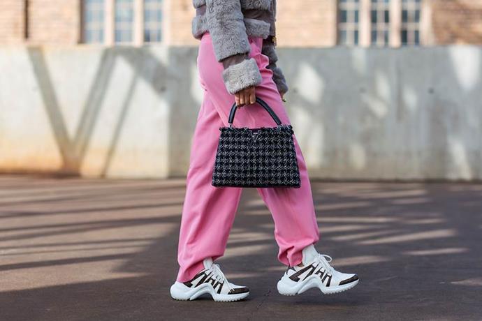 "Saint Laurent sneakers <br><br> Image: [Stylesnooperdan](https://www.stylesnooperdan.com/|target=""_blank""|rel=""nofollow"")"