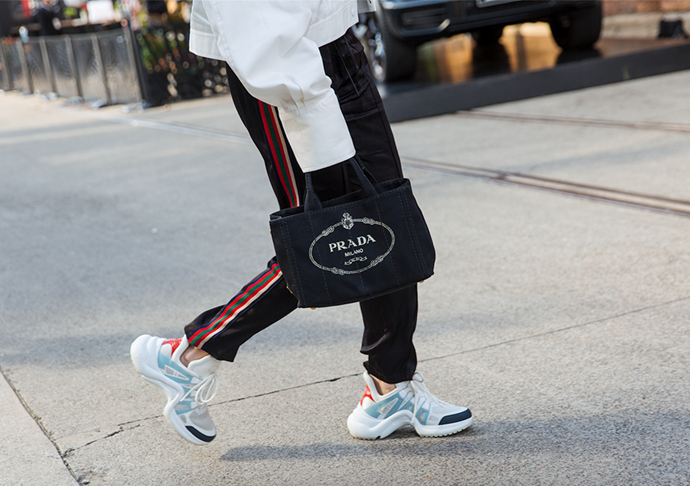 "Louis Vuitton sneakers <br><br> Image: [Stylesnooperdan](https://www.stylesnooperdan.com/|target=""_blank""|rel=""nofollow"")"