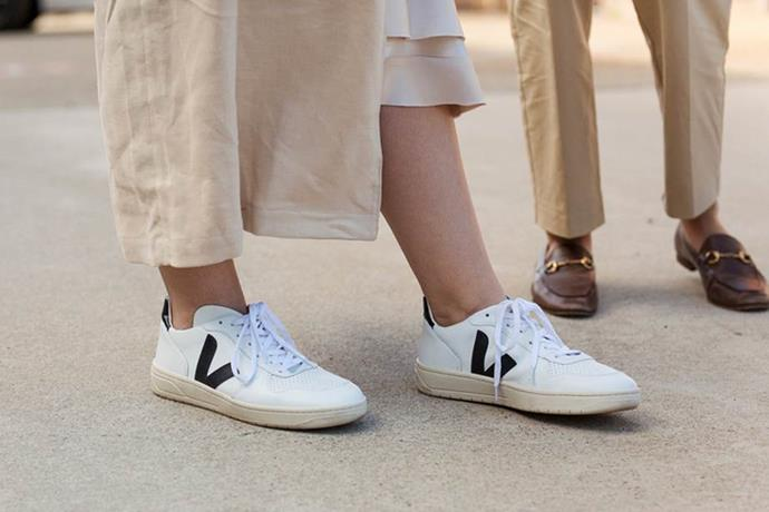 "Veja sneakers and Gucci loafers <br><br> Image: [Stylesnooperdan](https://www.stylesnooperdan.com/|target=""_blank""|rel=""nofollow"")"