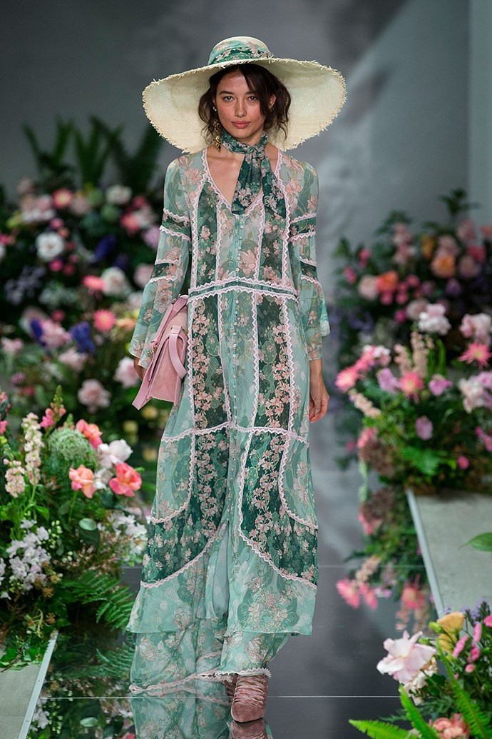 **We Are Kindred** <br><br> **Why everyone was talking about it:** Nothing screams 'Austen romanticism' more than flowing dresses, floral prints, wide-brimmed hats and Victorian boots, and this We Are Kindred look has it all.