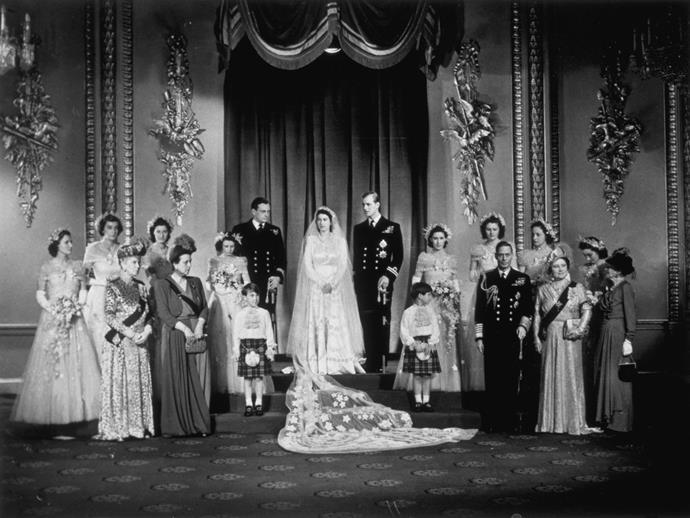 Queen Elizabeth II and Prince Philip's wedding.