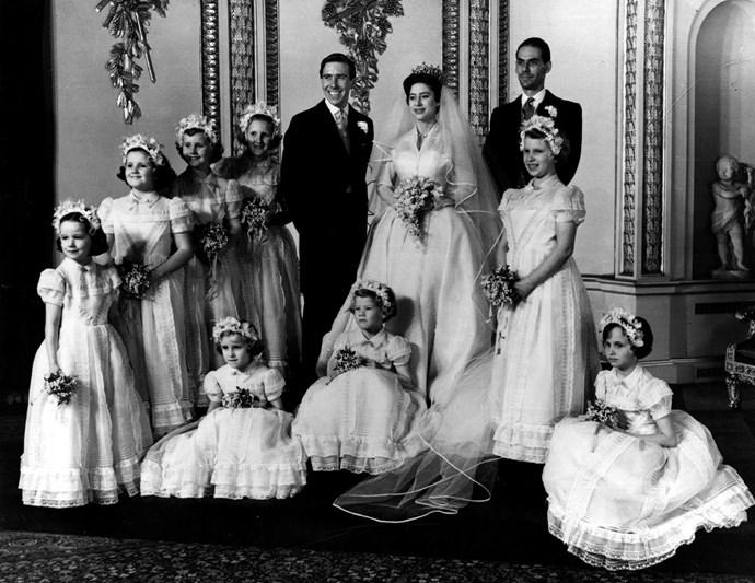 Princess Margaret and Lord Snowdon's stylish royal wedding.