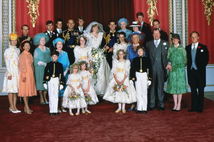 Princess Diana and Prince Charles' official portrait.