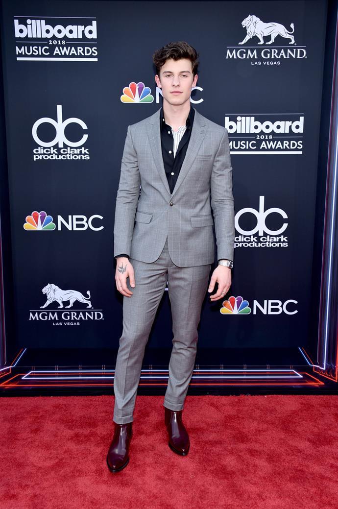 Shawn Mendes at the 2018 Billboard Awards.
