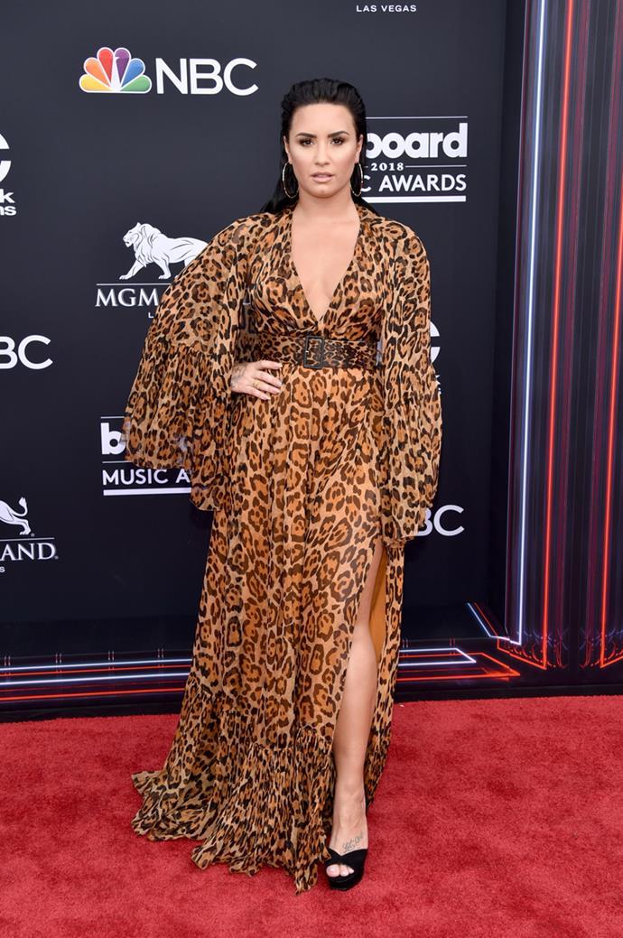 Demi Lovato at the 2018 Billboard Awards.