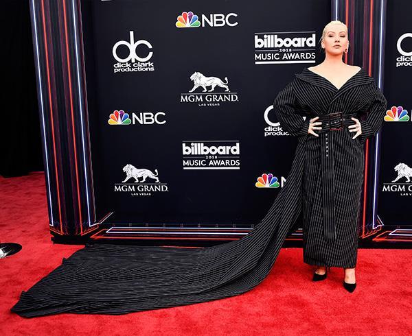 Christina Aguilera at the 2018 Billboard Awards.