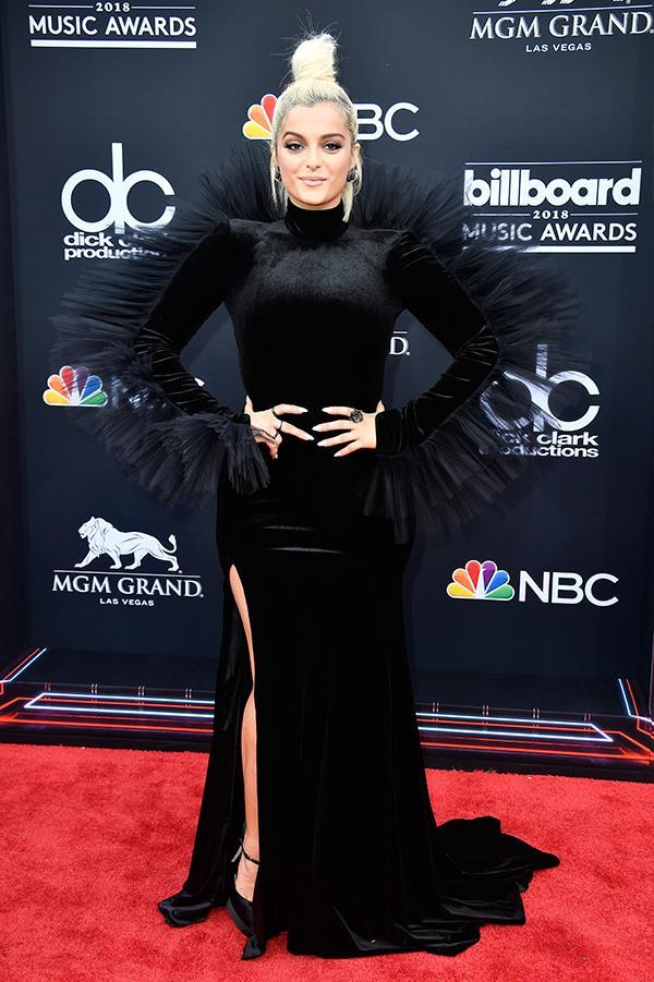 Bebe Rexha at the 2018 Billboard Awards.
