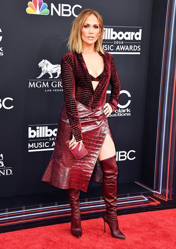 Jennifer Lopez at the 2018 Billboard Music Awards.