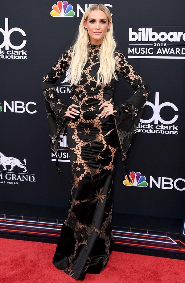 Ashley Simpson at the 2018 Billboard Music Awards.