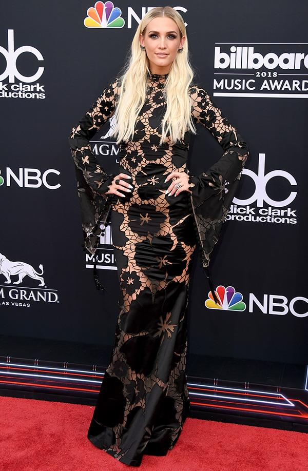 Ashley Simpson at the 2018 Billboard Music Awards.