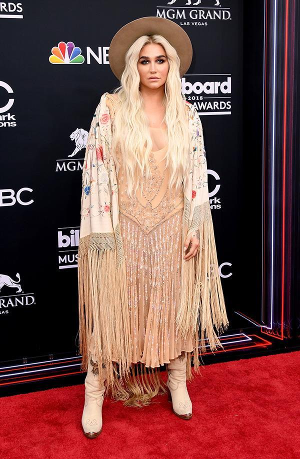 Kesha at the 2018 Billboard Music Awards.