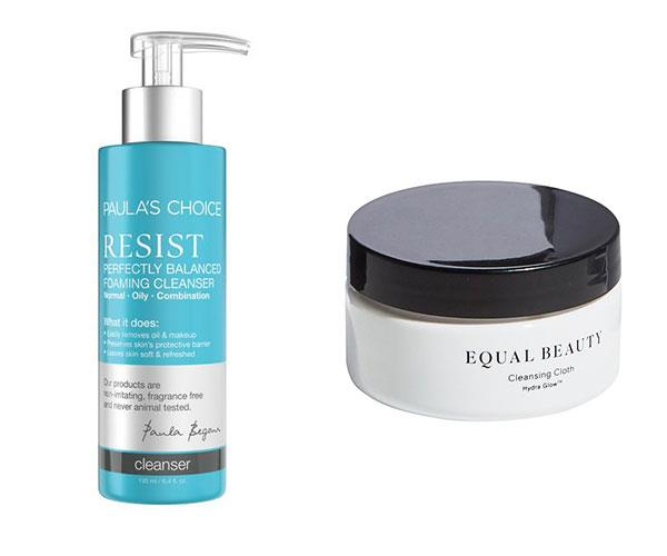 """First thing's first: washing the sweat and grime off your face. If you've got time, go for the full cleanse. If not, a facial towelette will do (until you have time for a proper cleanse). <br><br> Paula's Choice Resist Perfectly Balanced Foaming Cleanser, $33, at [Paula's Choice](https://www.paulaschoice.com.au/resist-perfectly-balanced-foaming-cleanser/783.html?cgid=collections-resist-anti-aging#start=9