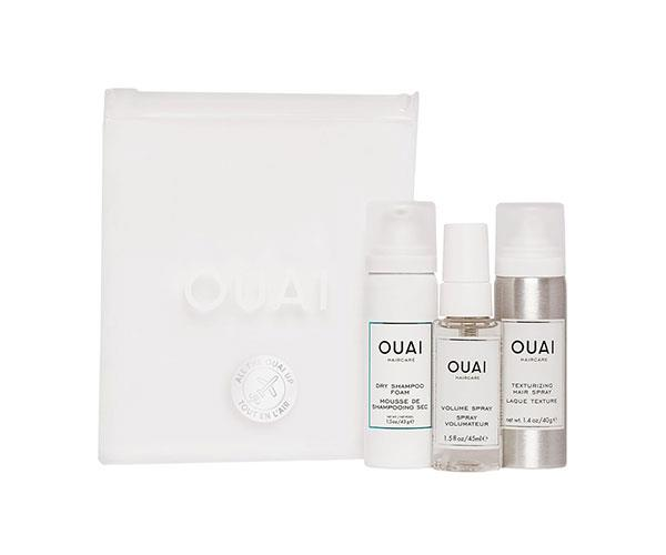 """For something more luxe, try this set from Ouai Haircare, which contains the brand's cult Dry Shampoo Foam, Volume Spray and Texturising Spray to refresh the roots and keep your locks polished after a hard workout. <br><br> Ouai Haircare All The Ouai Up Kit, approx. $44. at [Cult Beauty](https://www.cultbeauty.co.uk/ouai-haircare-all-the-ouai-up-kit.html