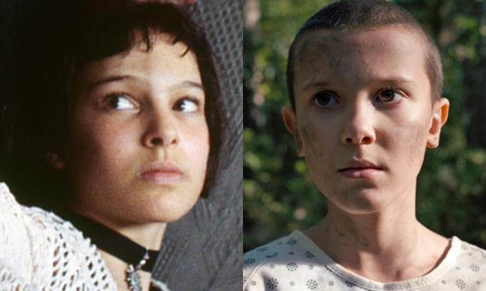 Both actors made their on-screen debut in rather badass roles, Natalie as a young hitman in *Léon: The Professional* and Millie as a supernaturally gifted rulebreaker in *Stranger Things*.