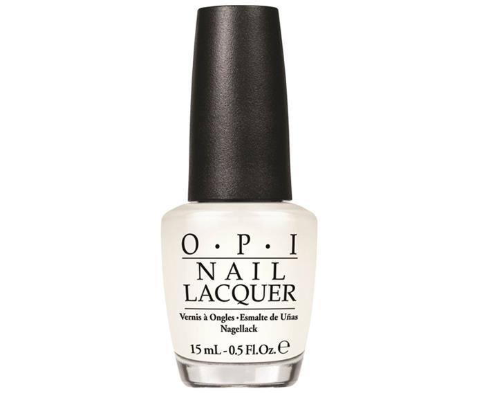 "OPI Nail Lacquer in Funny Bunny, $20, at [Skincare Store](https://www.skincarestore.com.au/opi-nail-varnish-funny-bunny-15ml/11294504.html?affil=thggpsad&switchcurrency=AUD&shippingcountry=AU&thg_ppc_campaign=71700000035284130&gclid=Cj0KCQjwxtPYBRD6ARIsAKs1XJ4ejnBwjHMCjjLTa-x5ba_95loPUq238NQXGAy84kaaBpjjHmWvoW4aAgB6EALw_wcB&gclsrc=aw.ds|target=""_blank"")."