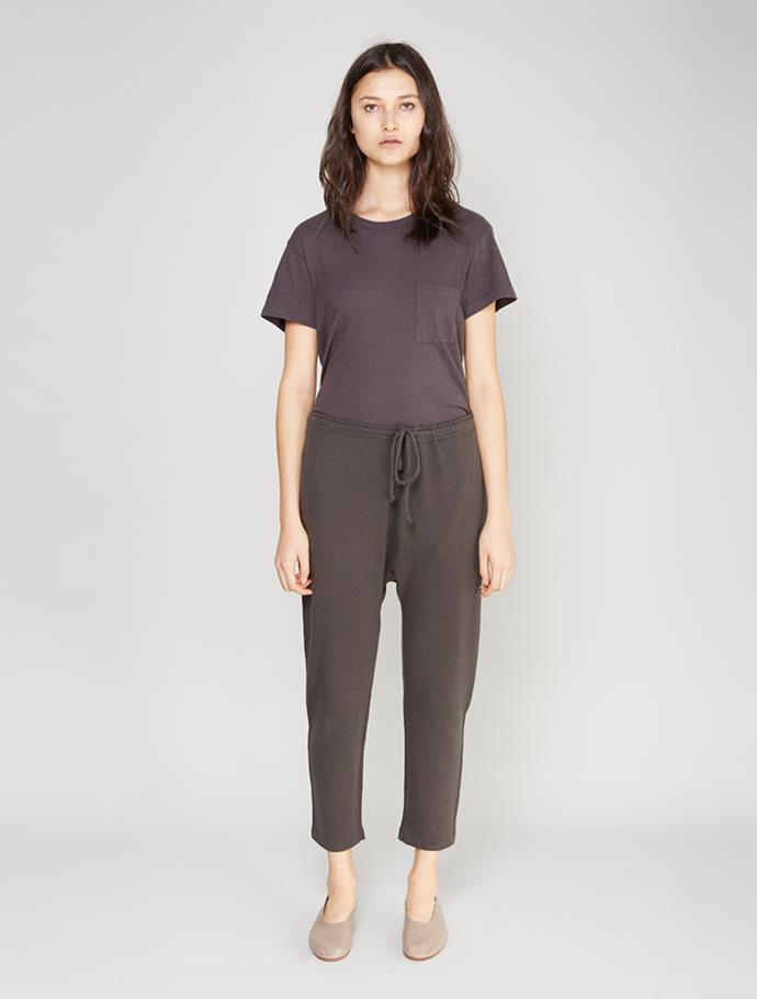 "Lauren Manoogian Cashmere Arch Sweats, $276 from [My Chameleon](https://www.mychameleon.com.au/designer/lauren-manoogian/cashmere-arch-sweats-carbon-lauren-manoogian target=""_blank"")."
