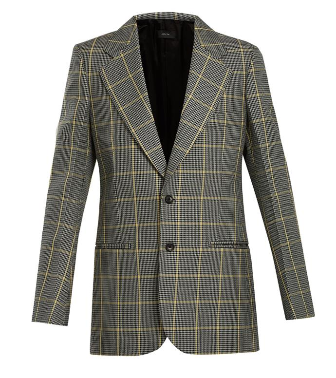 "Blazer, $550, Joseph at [MATCHESFASHION.COM](https://www.matchesfashion.com/au/products/Joseph-Grimaud-Prince-Of-Wales-checked-jacket-1183530|target=""_blank""