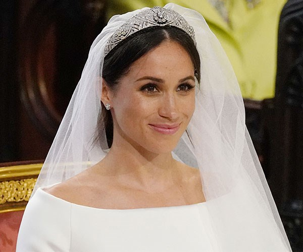 Meghan was a vision of beauty on her wedding day.