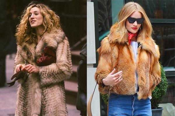"**THE (ETHICALLY QUESTIONABLE) FUR COAT** <br><br> Even though [real fur is *so* '90s](https://www.harpersbazaar.com.au/fashion/luxury-fashion-brands-that-are-fur-free-14634|target=""_blank""), there's rarely anything more chic in the dead of winter than a body-swamping (faux) fur coat—case in point, Carrie Bradshaw."