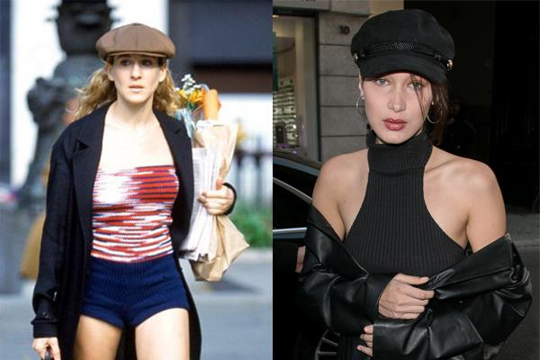 **THE FASHION-FRIENDLY PAGEBOY HAT** <br><br> Love them or loathe them, Carrie's penchant for the perfect pageboy hat remains one of the most '90s trends in living memory—and seemingly can't be killed today.