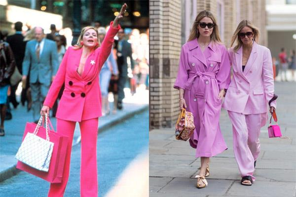 **SAMANTHA'S 'DON'T F--K WITH ME' POWERSUITS** <br><br> As New York's most revered PR professional, Samantha Jones pioneered the double-breasted, in-your-face powersuit—still seen on runways and donned by fashion's most powerful.