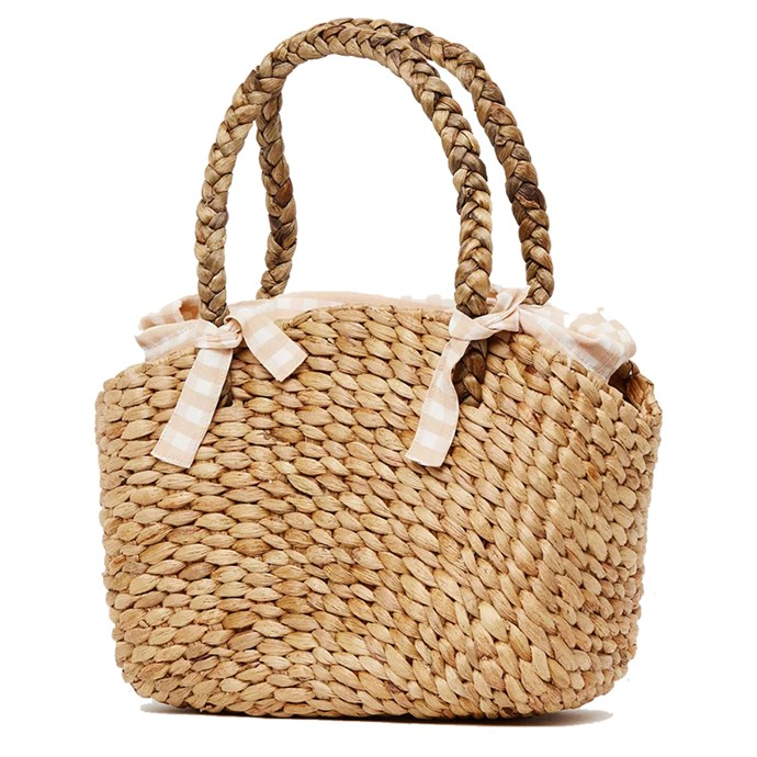 "Bag, $119, Faithfull at [The Iconic](https://www.theiconic.com.au/roberta-woven-bag-595168.html|target=""_blank""