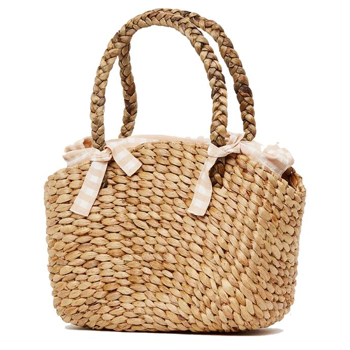"""Bag, $119, Faithfull at [The Iconic](https://www.theiconic.com.au/roberta-woven-bag-595168.html